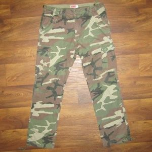 All-Son Brand Camouflage Size 34 Army Green 8418